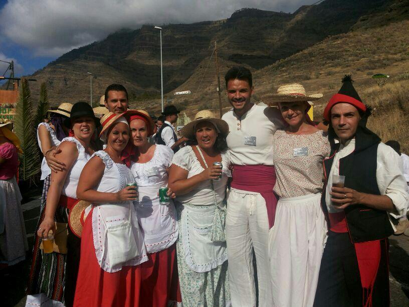En una de las muchas fiestas de Gran Canaria