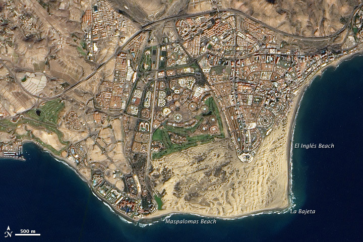 Maspalomas Beach Airview
