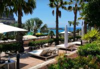 Amadores Beach Club Balinese Sun beds with view