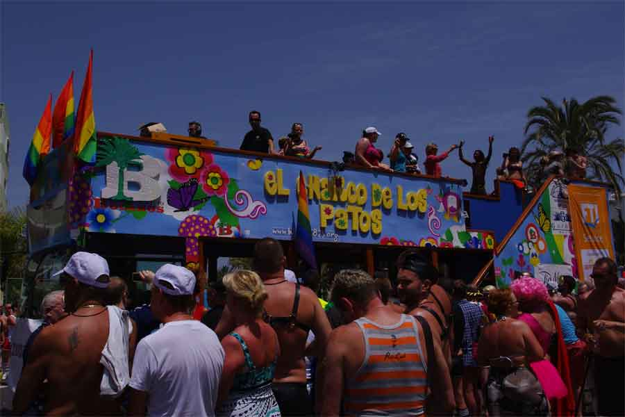 Participants Celebrate both on Floats and surrounding streets