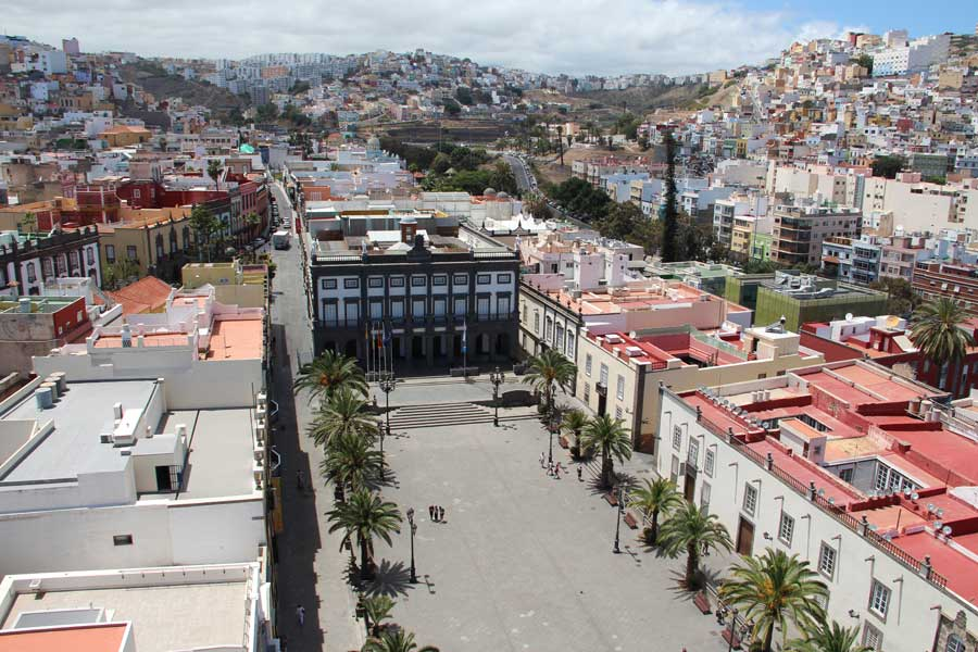 View over the old town of Las Palmas