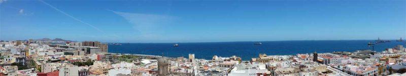 Panoramablick über Las Palmas de Gran Canaria.