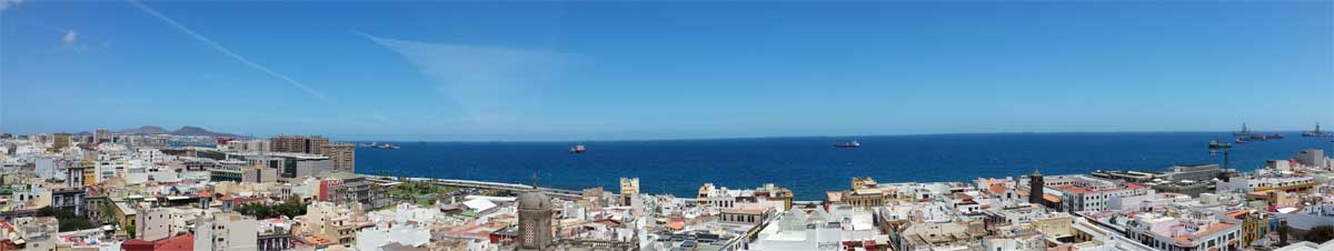Panoramic view over Las Palmas de Gran Canaria
