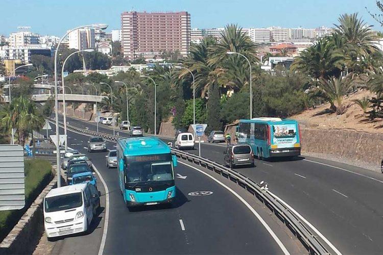 Bus fahren zum CC San Agustin.