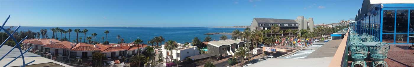 Panorama CC San Agustin. Blick zum Meer.