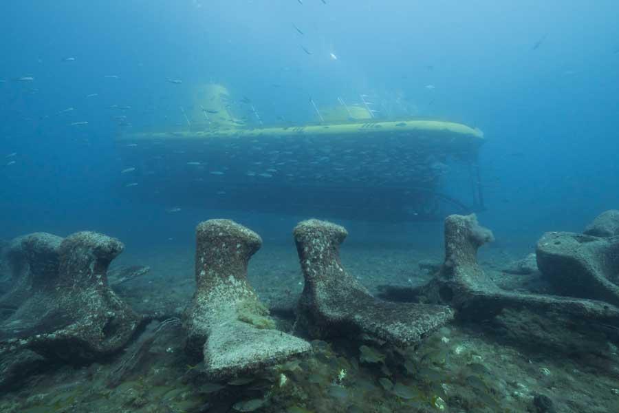 Künstliche Riff vor Puerto de Mogan - Gelbes U-Boot.
