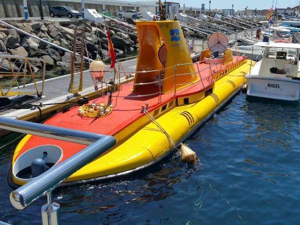 U-Boot Ausflug Yellow Submarine