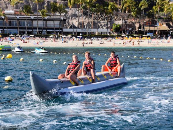 Åktur med bananbåt vid Anfi-stranden Arguineguin