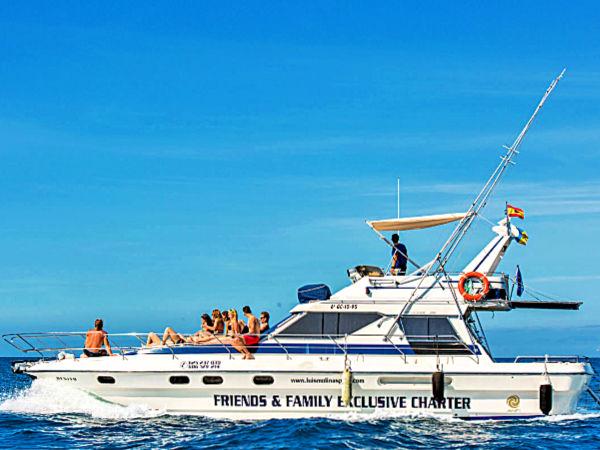 Privat båtcharter vid Anfi del Mar